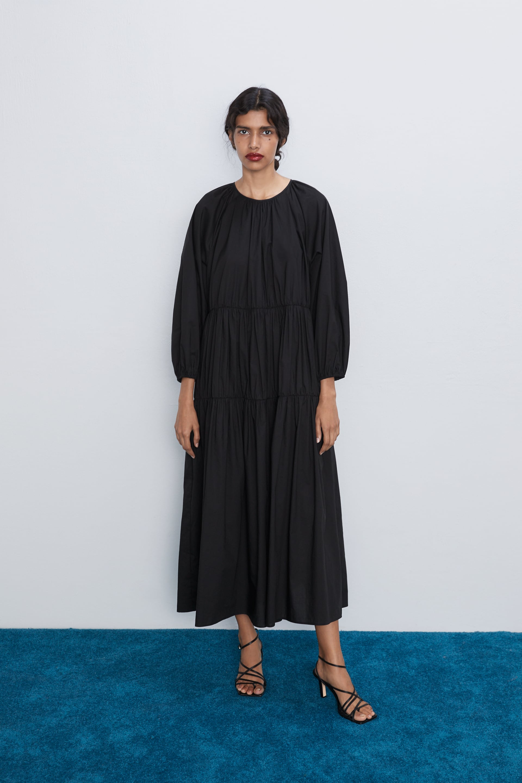 Buy poplin dress zara> OFF 20