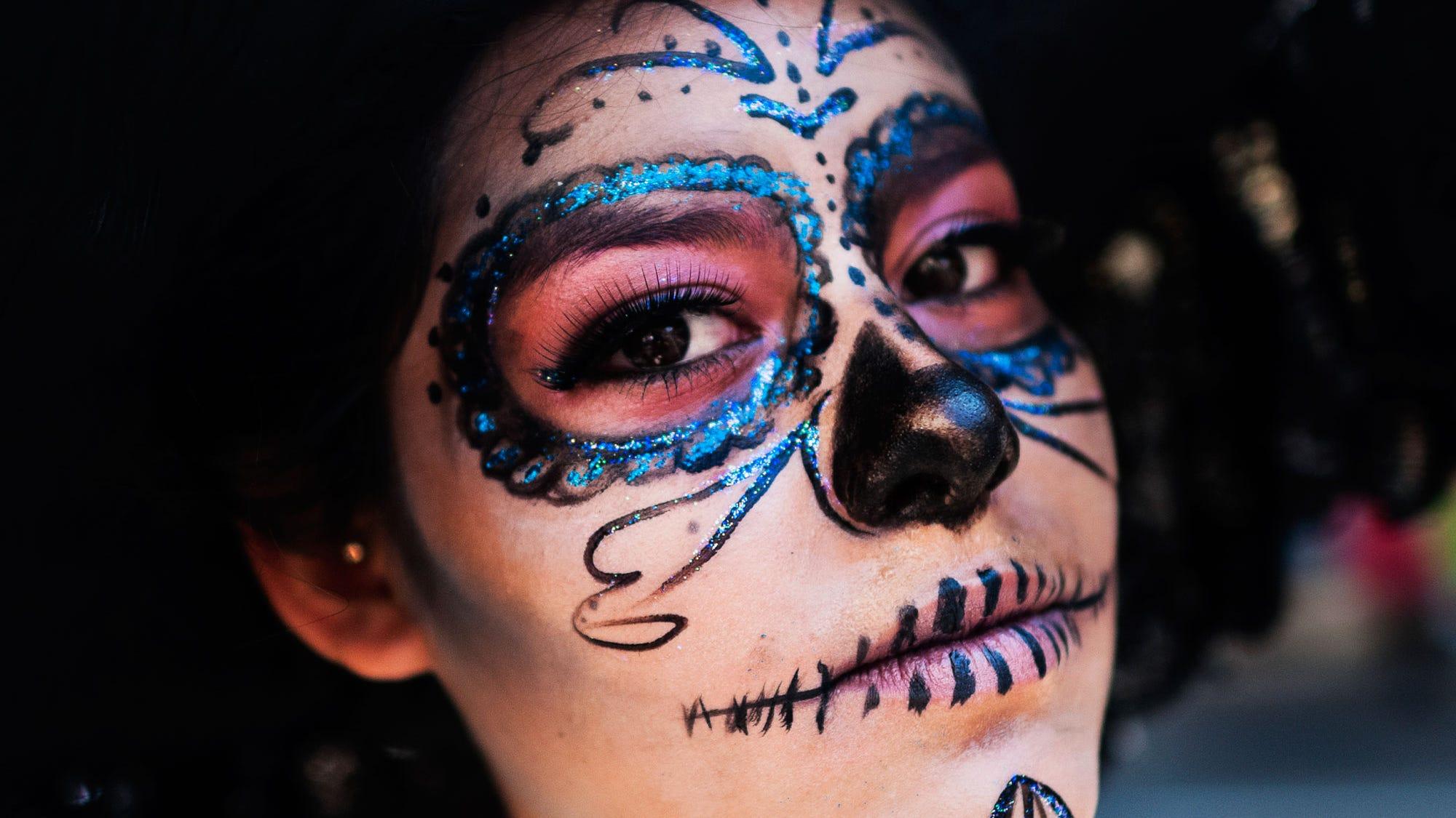 Halloween Kette La Catrina Totenkopf Halskette Dia de los Muertos Schmuck