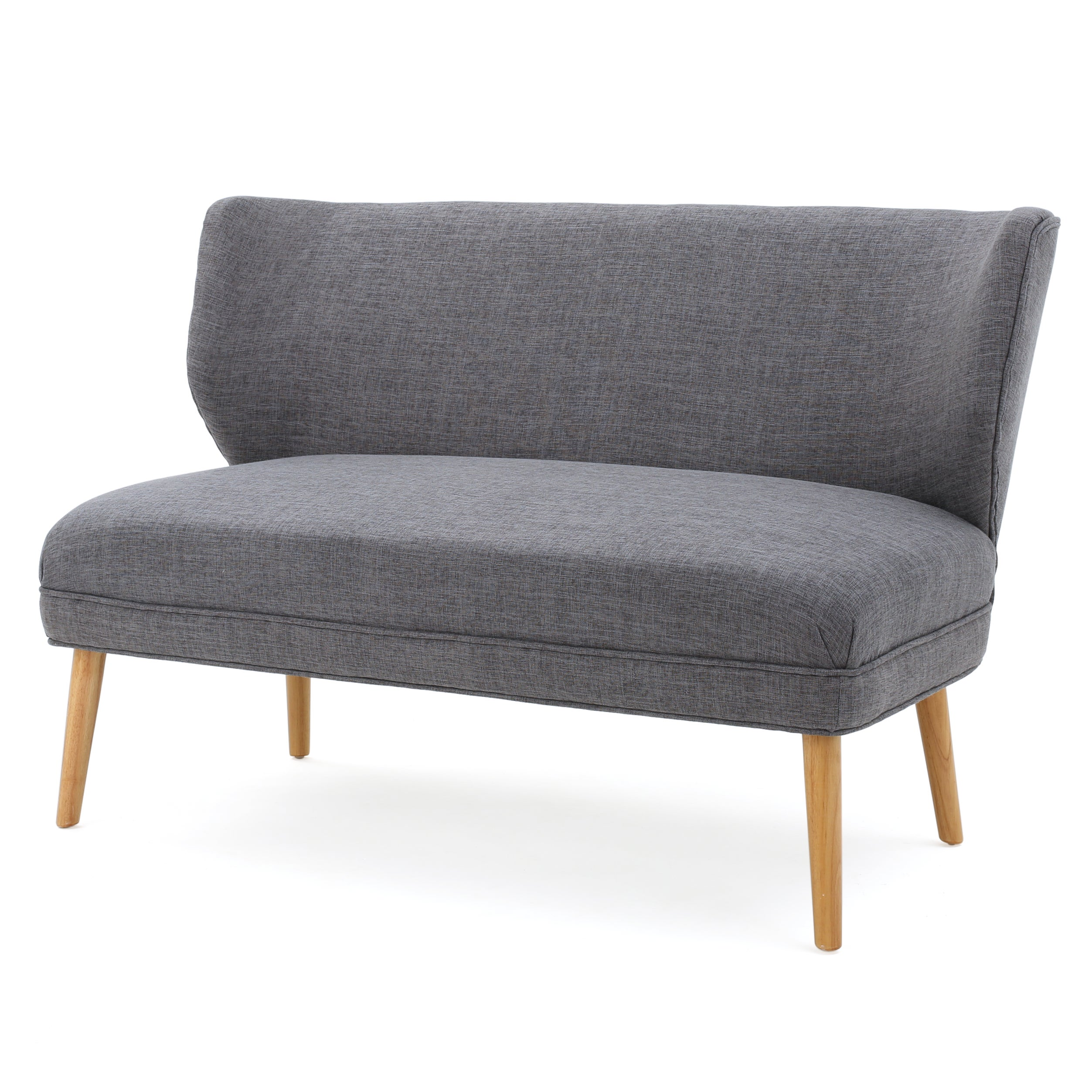 Astounding Ardine Mid Century Modern Fabric Loveseat Sofa Settee Light Grey Caraccident5 Cool Chair Designs And Ideas Caraccident5Info