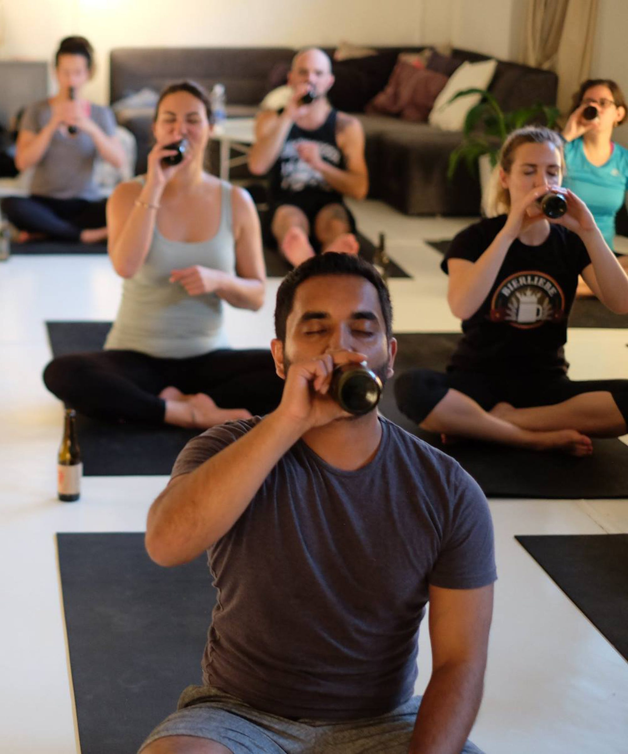 """""""Beer Yoga"""" Looks Even Weirder Than It Sounds"""