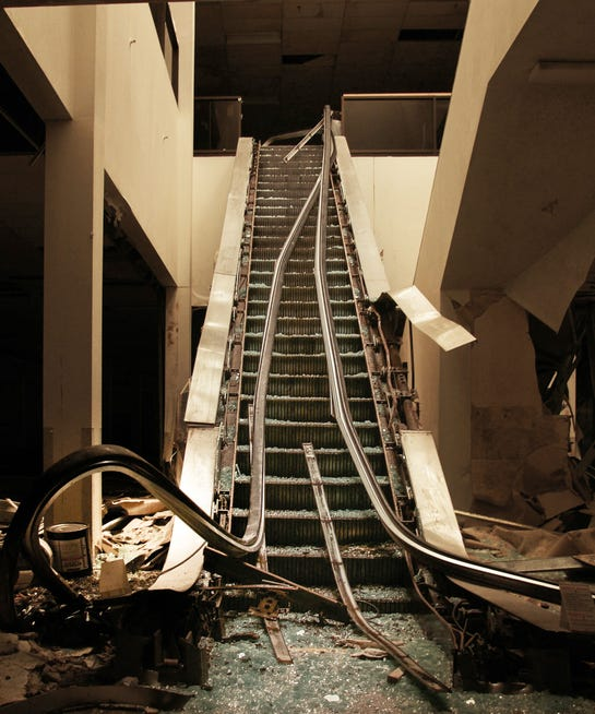 Creepy Abandoned Metro North Mall Kansas City Missouri