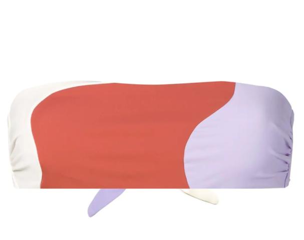 Abstract Bandeau Bikini Top