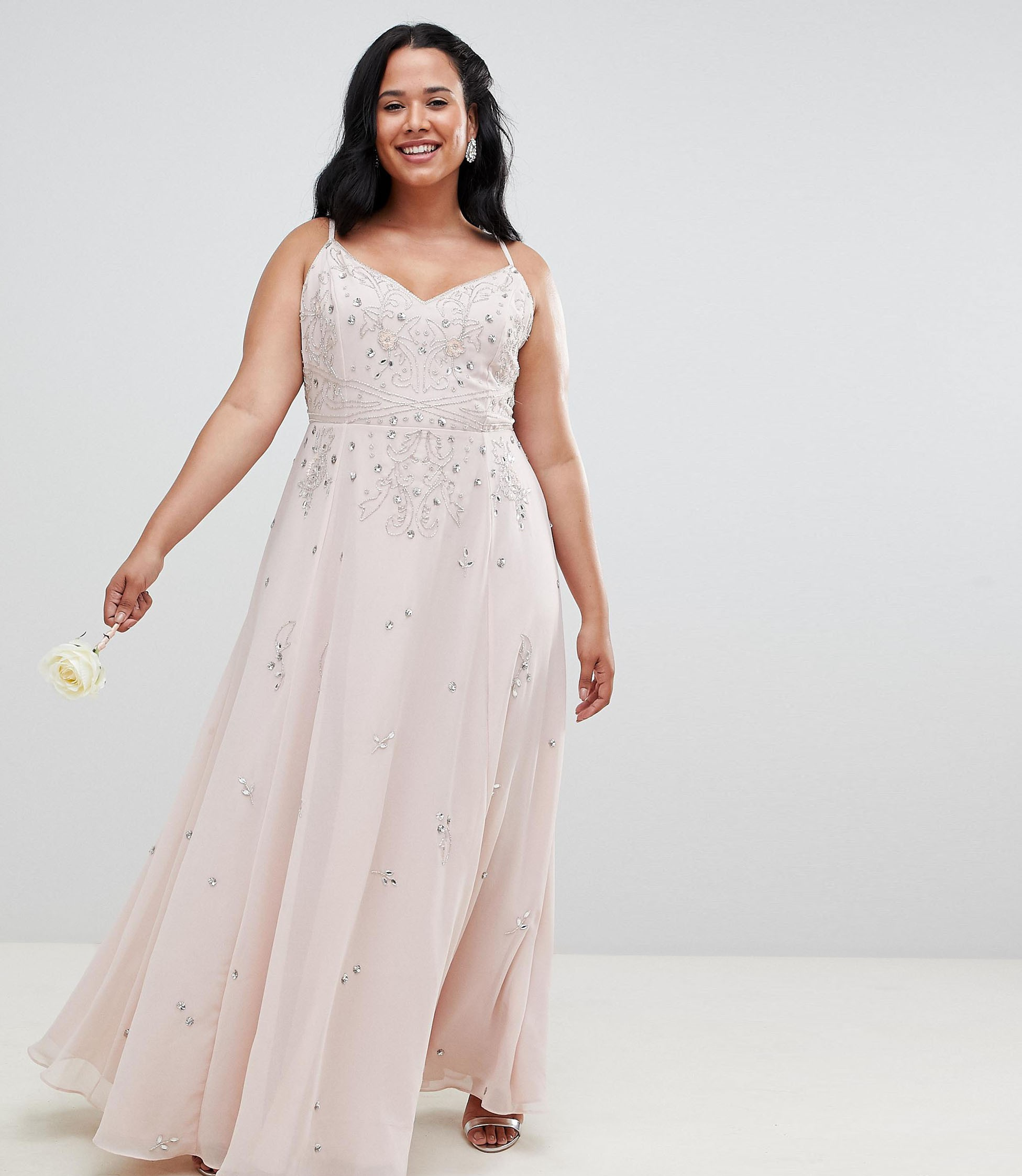 Curve Embellished Cami Maxi Dress