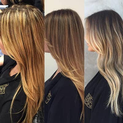 Haare strähnen hellen dunkelblonde mit Aschblonde oder