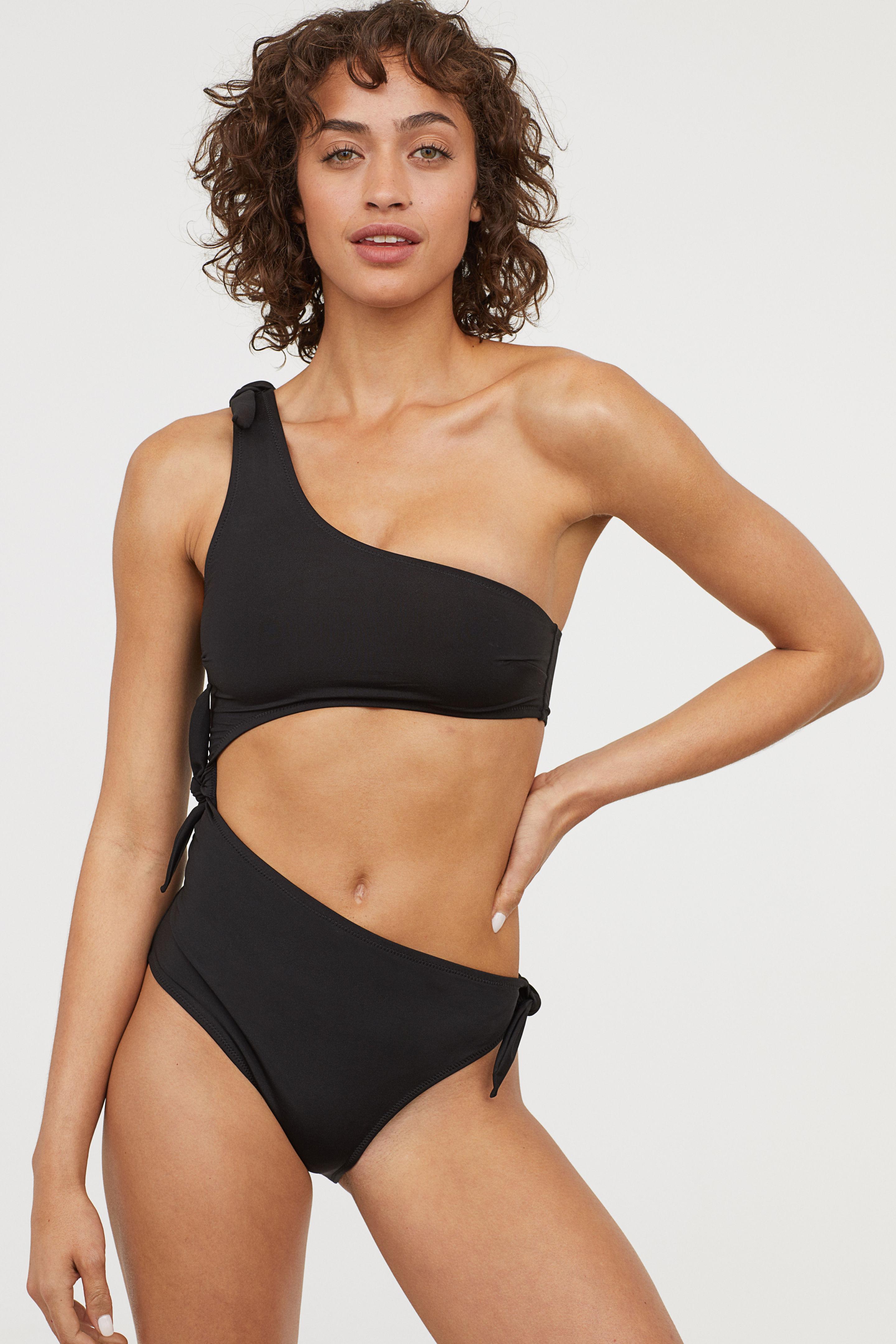 1be0d947d8 H&M + One-Shoulder Swimsuit