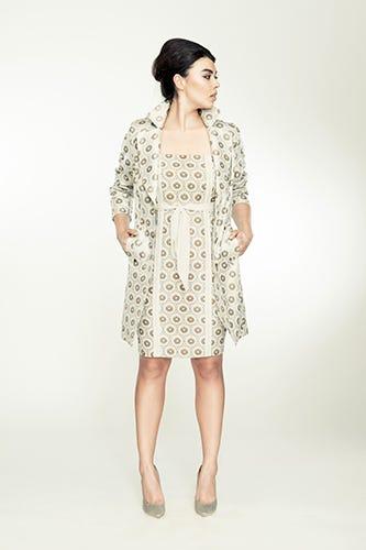 0f95b17897b Isabel Toledo for Lane Bryant. Chiffon Trim Sheath Dress