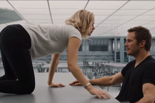 Jennifer lawrence and chris pratt sex scene