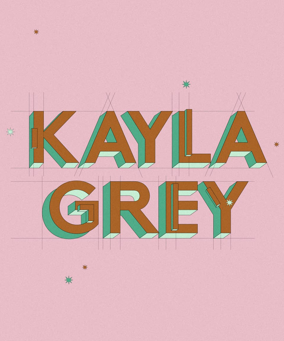 Graphic of the name Kayla Grey