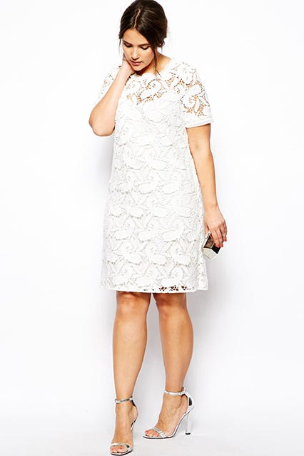 Exclusive Premium Shift Dress In Lace