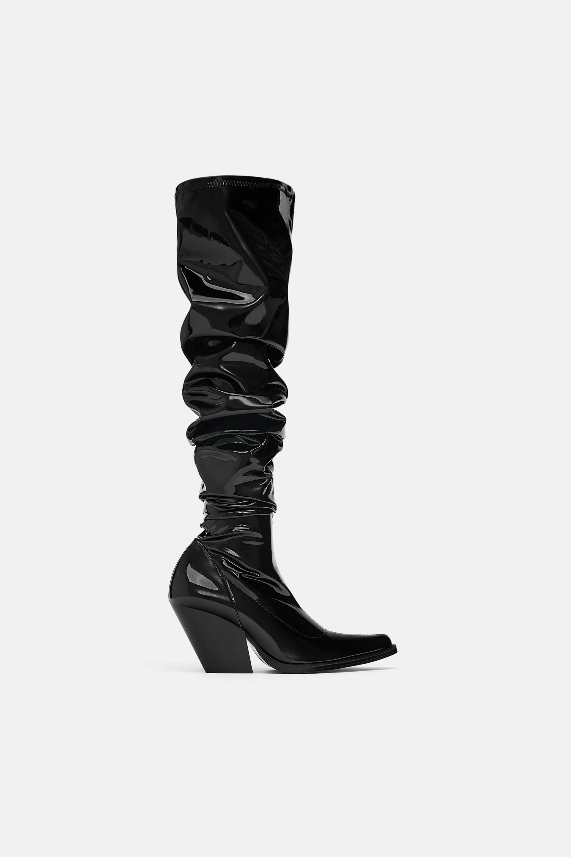 b55d8fd3116 Zara + Over-The-Knee Cowboy Boots