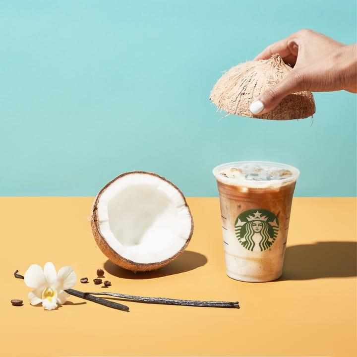 Starbucks Releases Iced Vanilla Bean Coconut Milk Latte
