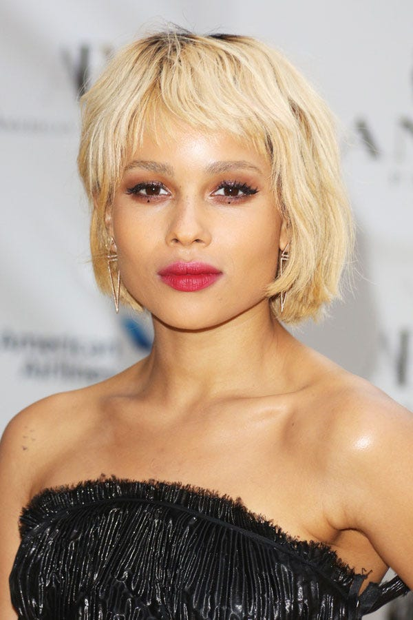 Zoe Kravitz New Blonde Hair Short Bob Cut