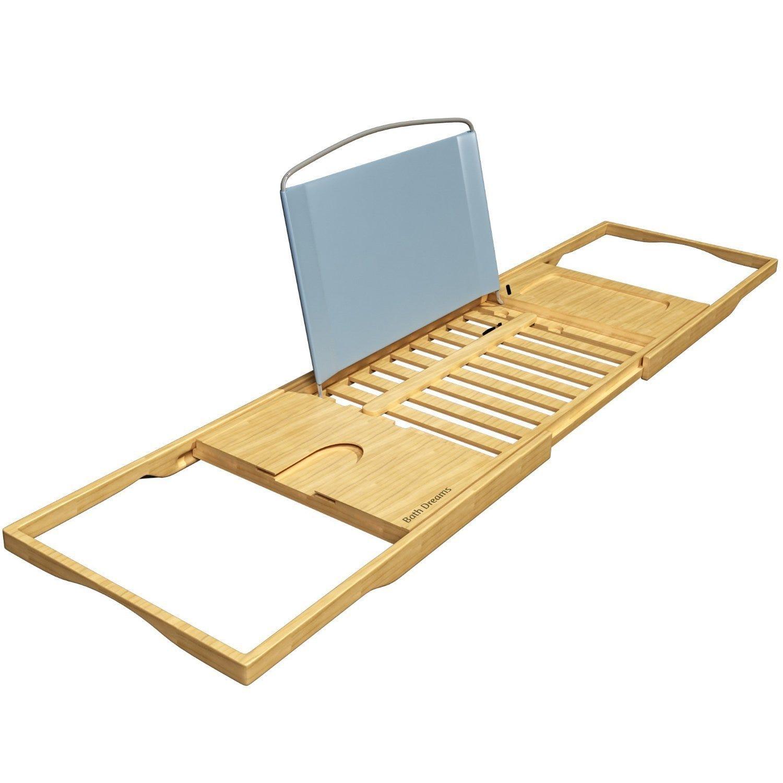 Bath Dreams + Bamboo Bathtub Caddy Tray