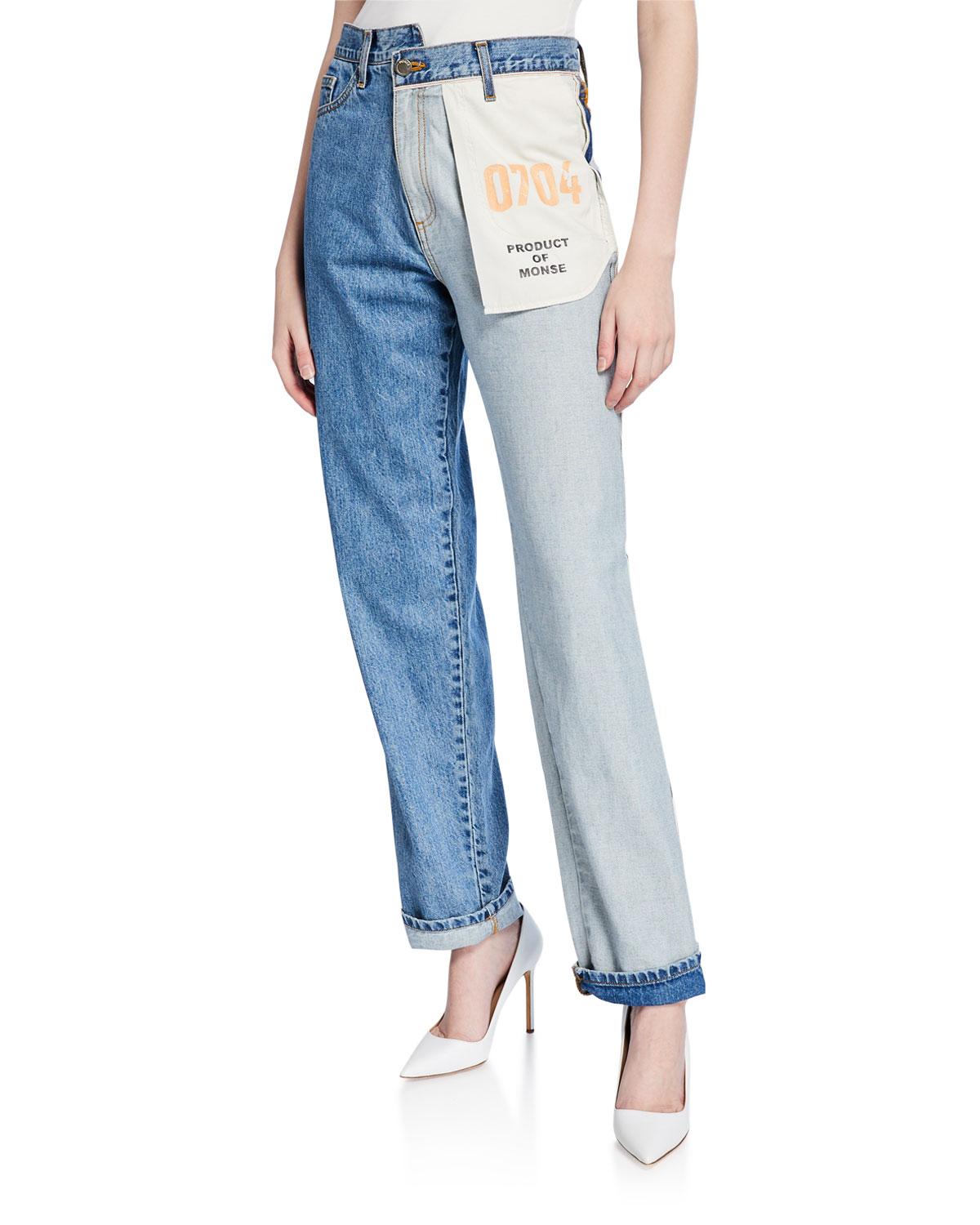 Jeans Trends 2020.Asymmetric Inside Out Pocket Jeans