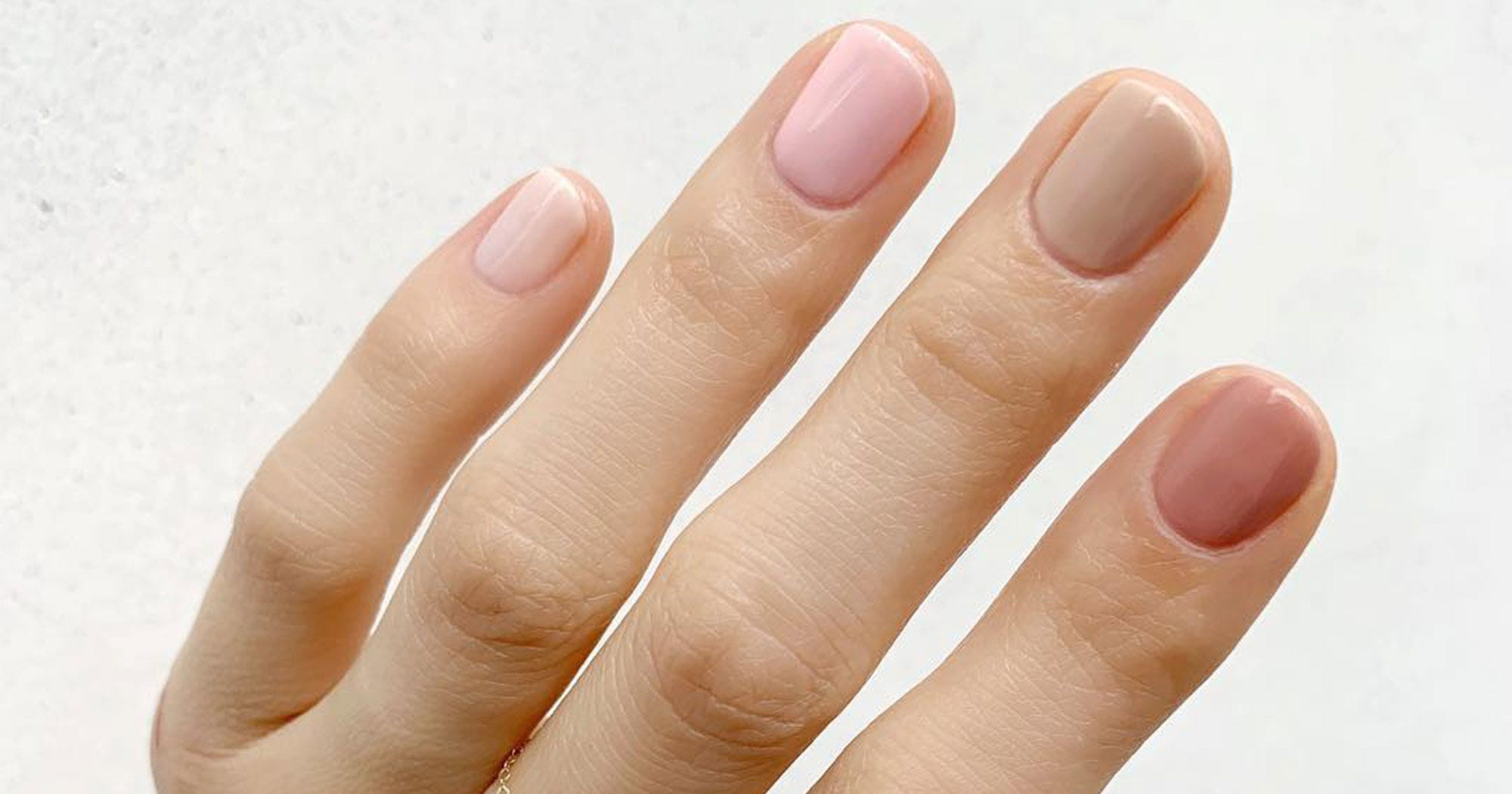 Different Color Gradient Nails Is Big Spring Nail Trend