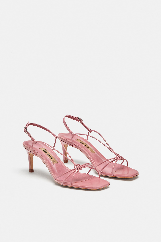 802e82e6b9d Zara + Leather High Heeled Strappy Sandals