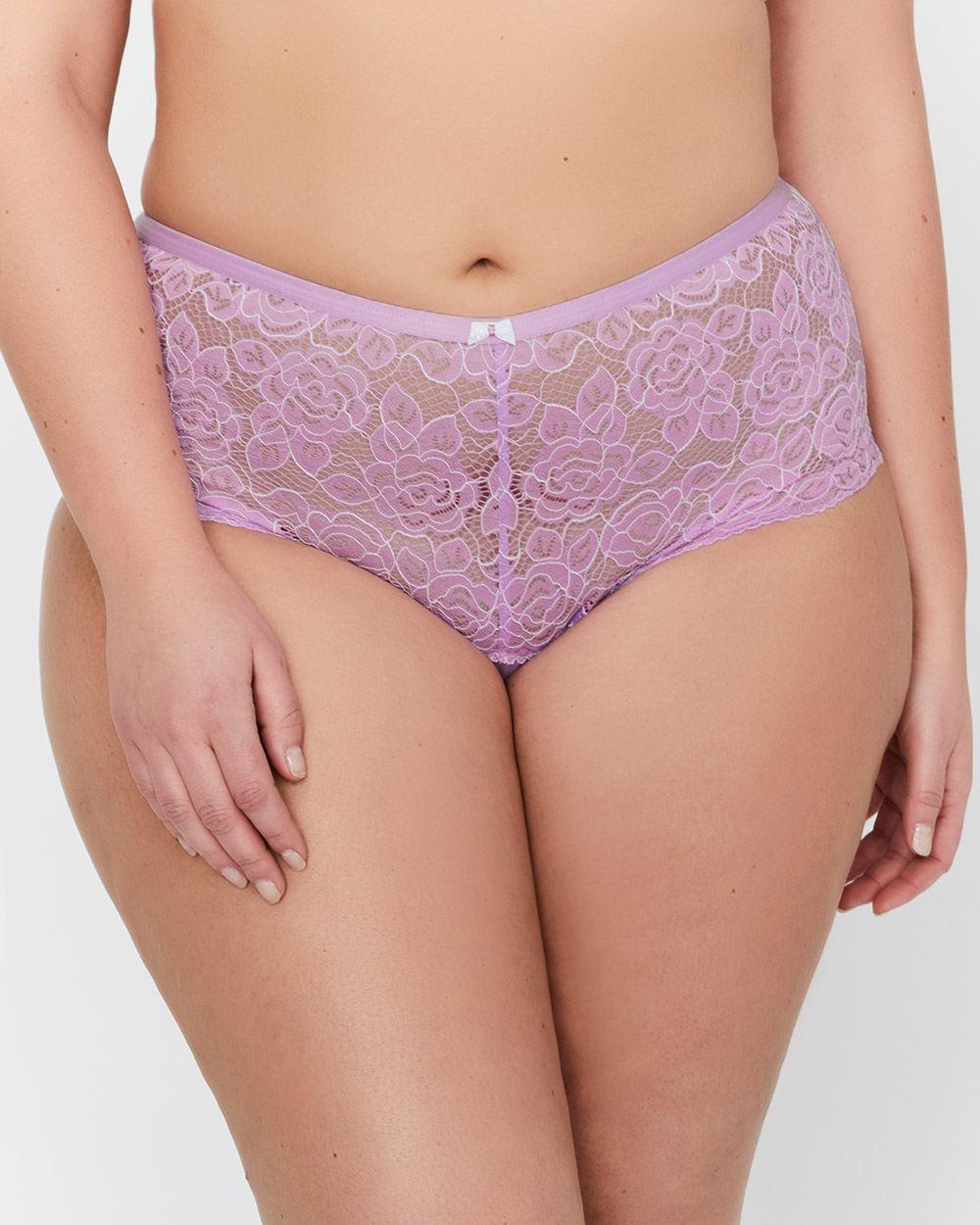 7239a98c4 Déesse Collection + Cross Dye Lace Femme Couture Panty