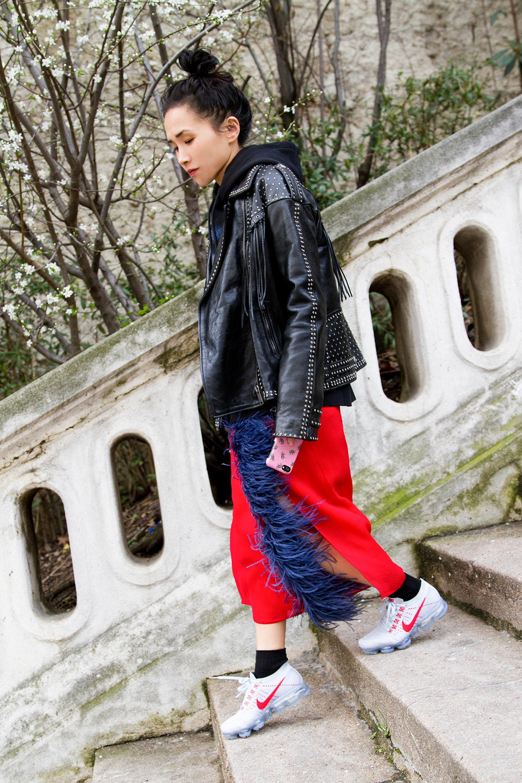 Nordstrom Nike Olivia Kim Street Style Sneakers Trend
