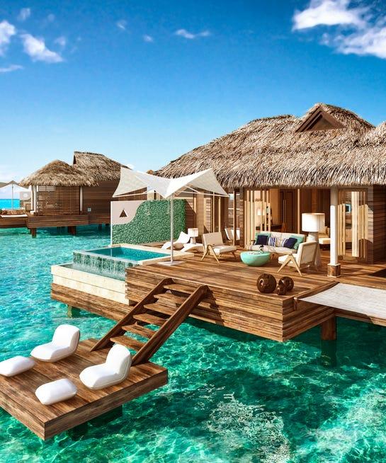 Overwater Bungalows Sandals Royal Caribbean Jamaica