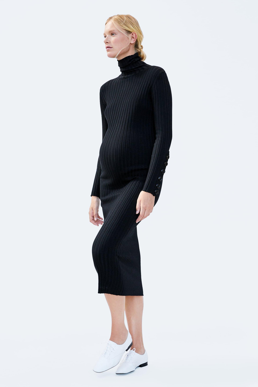 73a8c30364a90 Zara + Knit Dress With Buttons