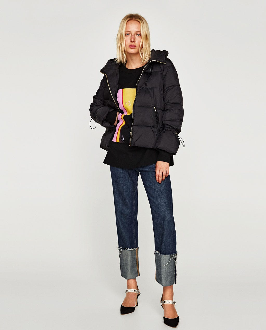 colours and striking latest trends 2018 shoes Quilted Jacket with Hood