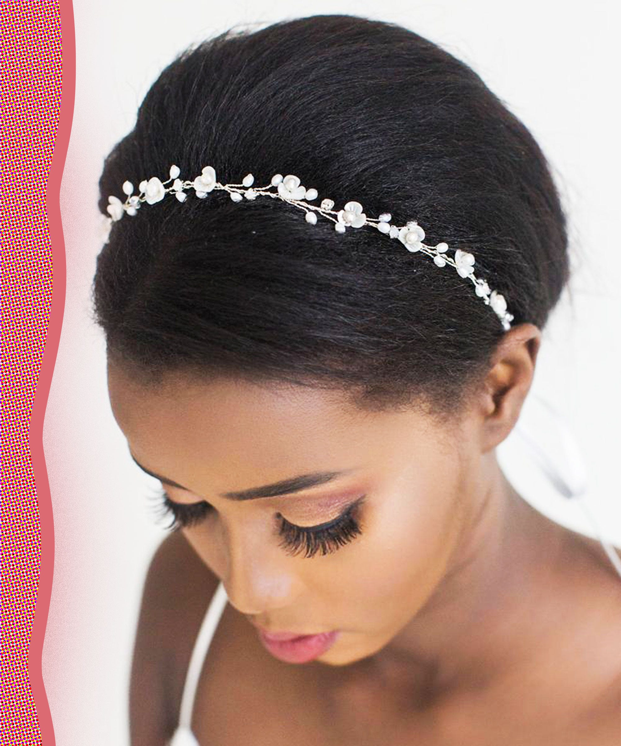 Lovely New Goddess Pearl  Gold Head Hair Chain Headpiece Crystal Forehead Piece