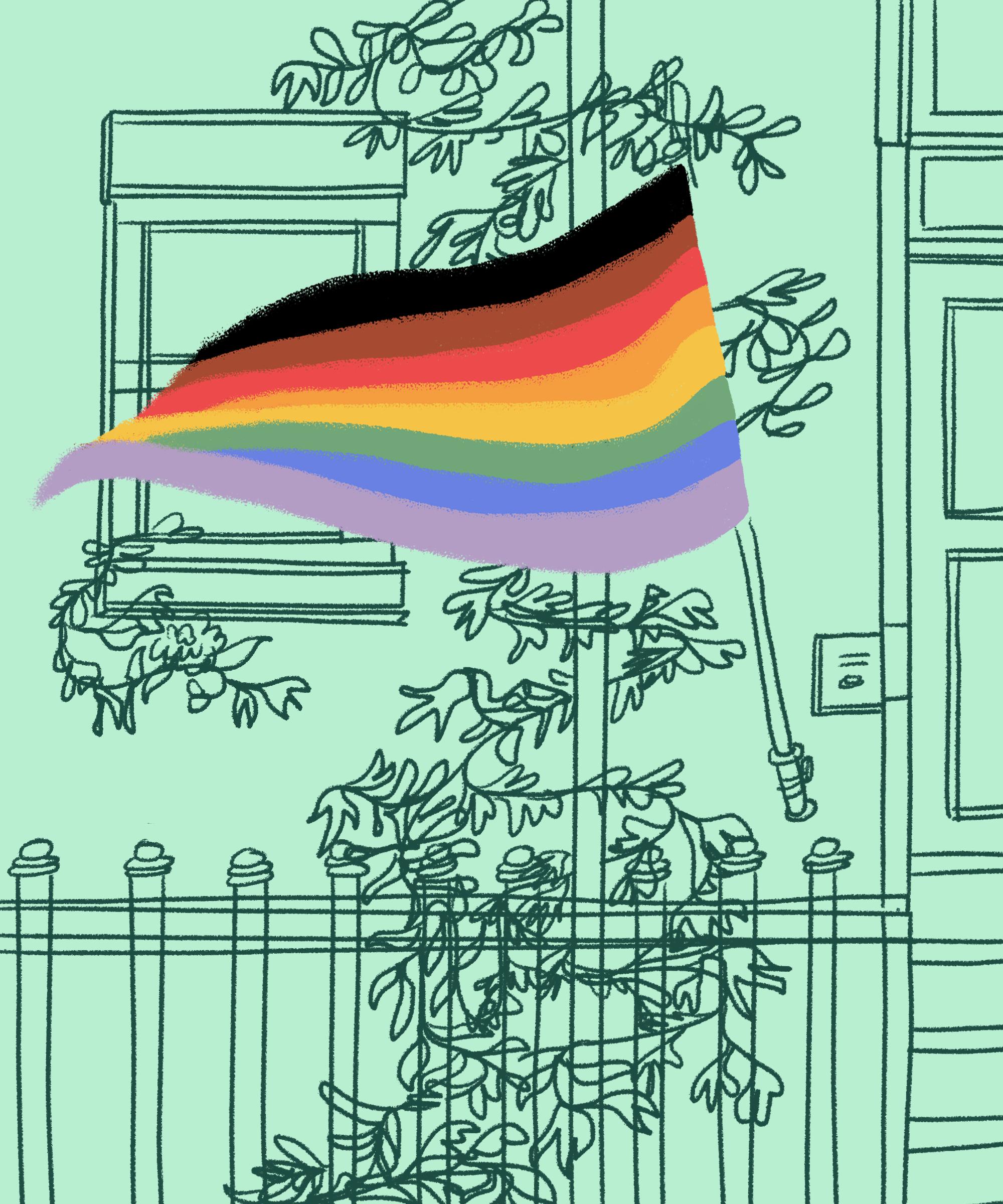 Rainbow decal lgbt lgbtqia gay pride flag lesbian car truck
