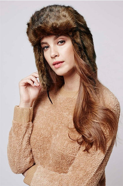 aa741024e Faux Fur Bear Trapper Hat