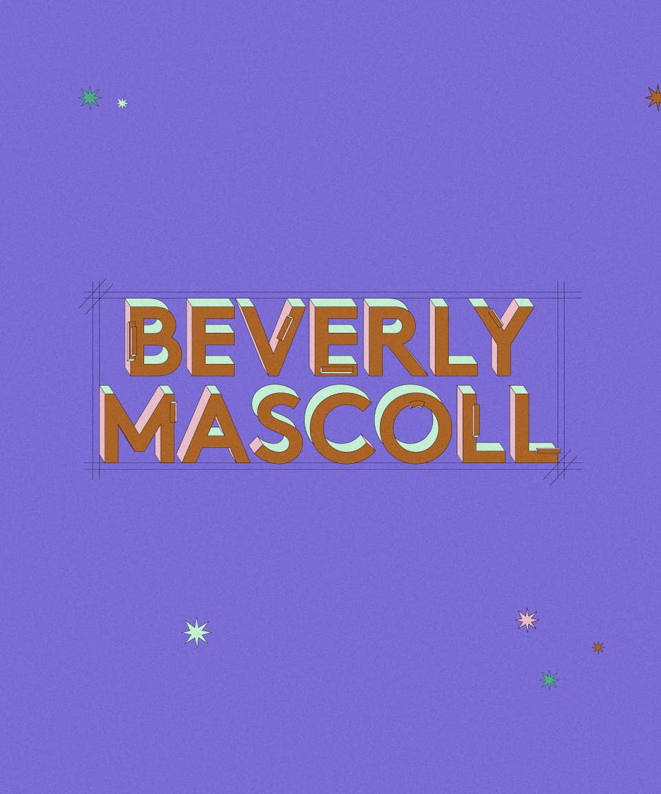 Graphic of the name Beverly Mascoll