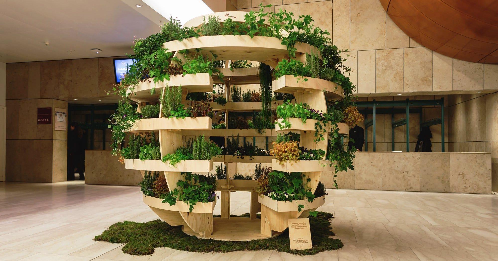 Ten Top Tips For Small Shady Urban Gardens: DIY Urban Garden Space10 IKEA Indoor Green Space