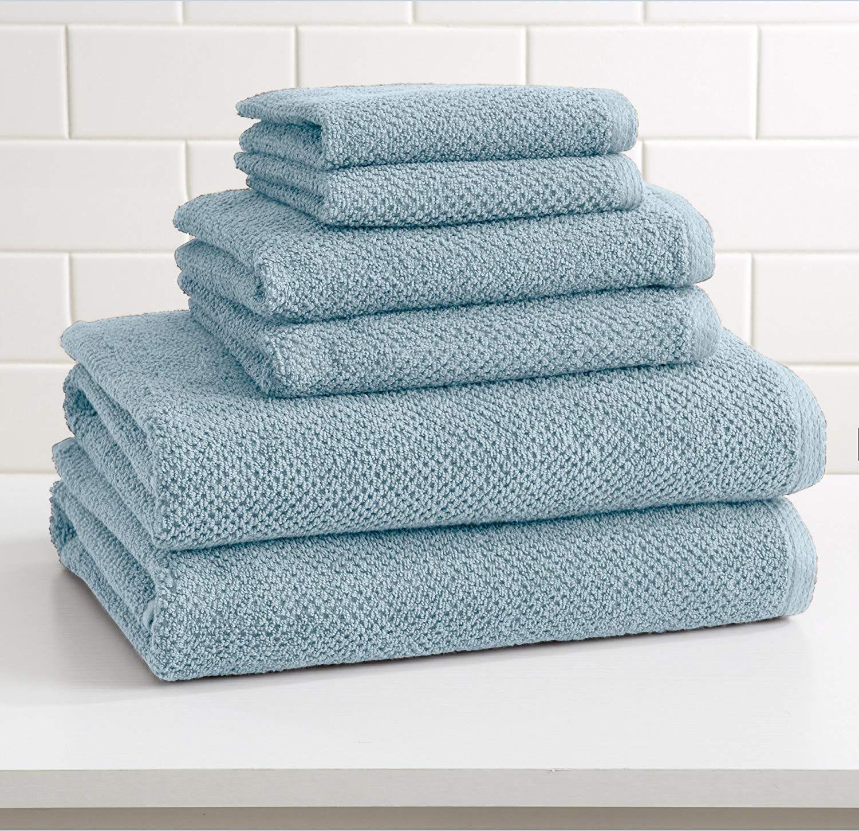 6-Piece 100% Cotton Towel Set