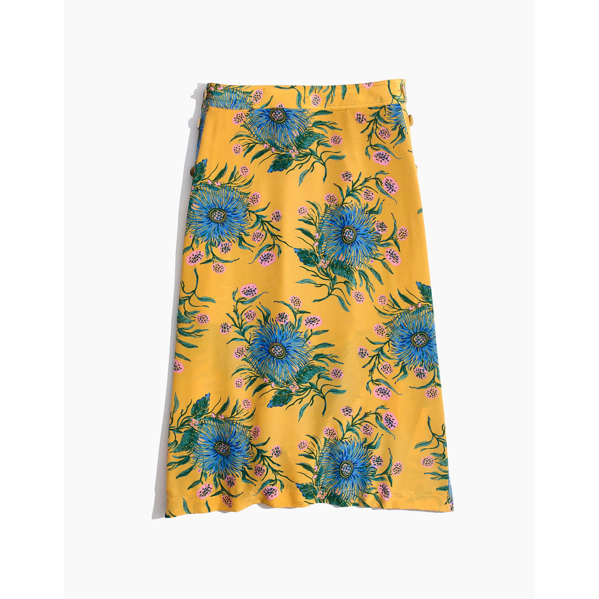 d663d4f1f9c8 Madewell + Silk Side-Button Skirt