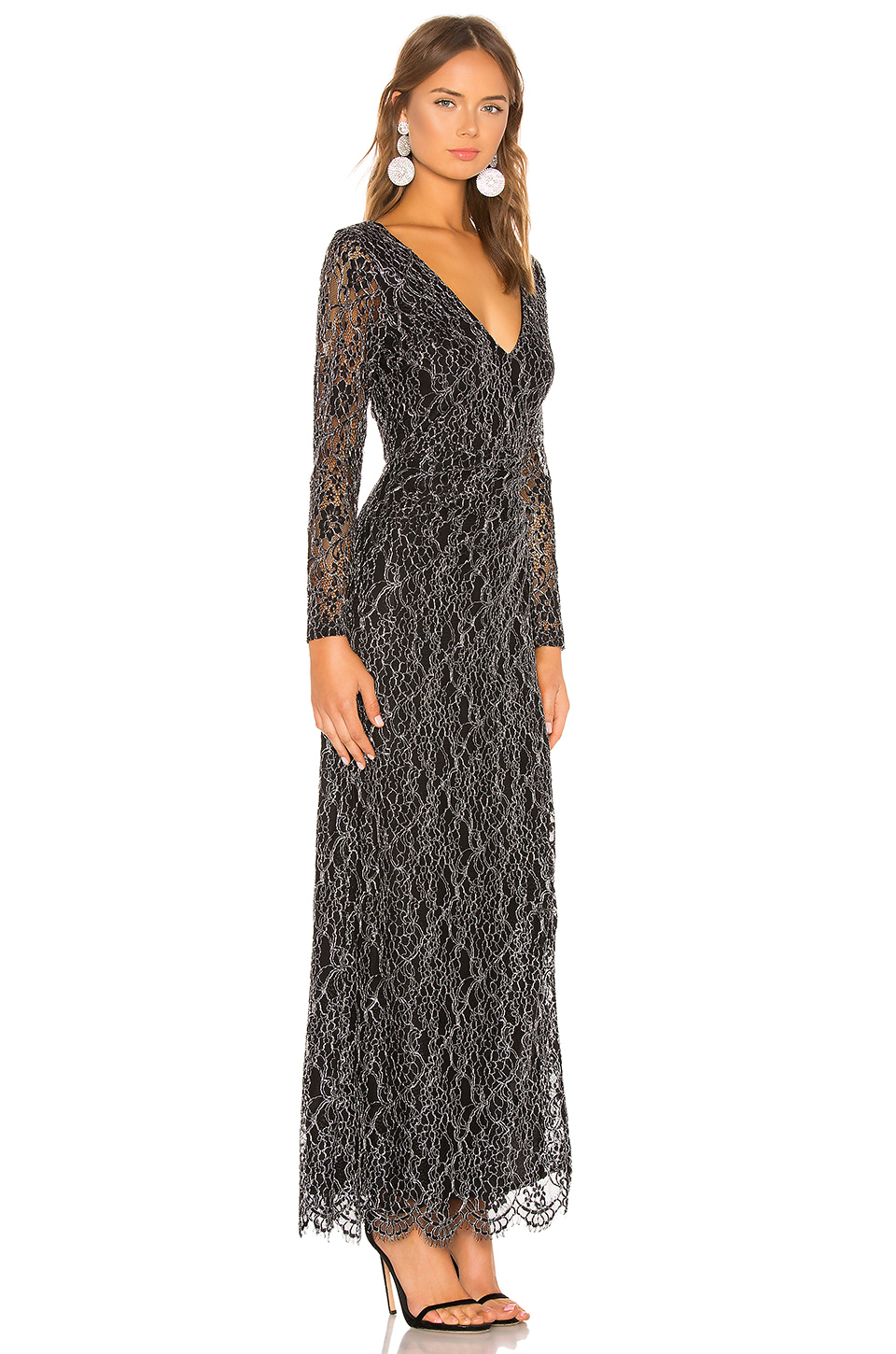 13cef4697f14 Cinq à Sept + Luna Strapless Embroidered Faille Midi Dress