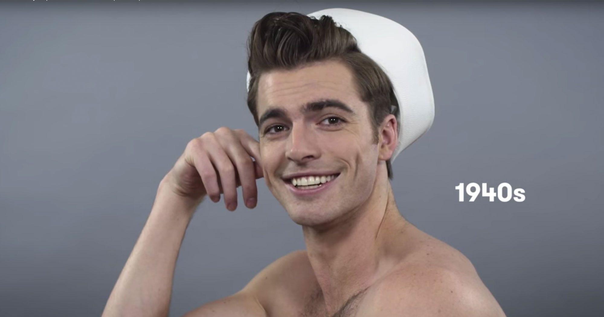 100 jahre männerfrisuren in einem video