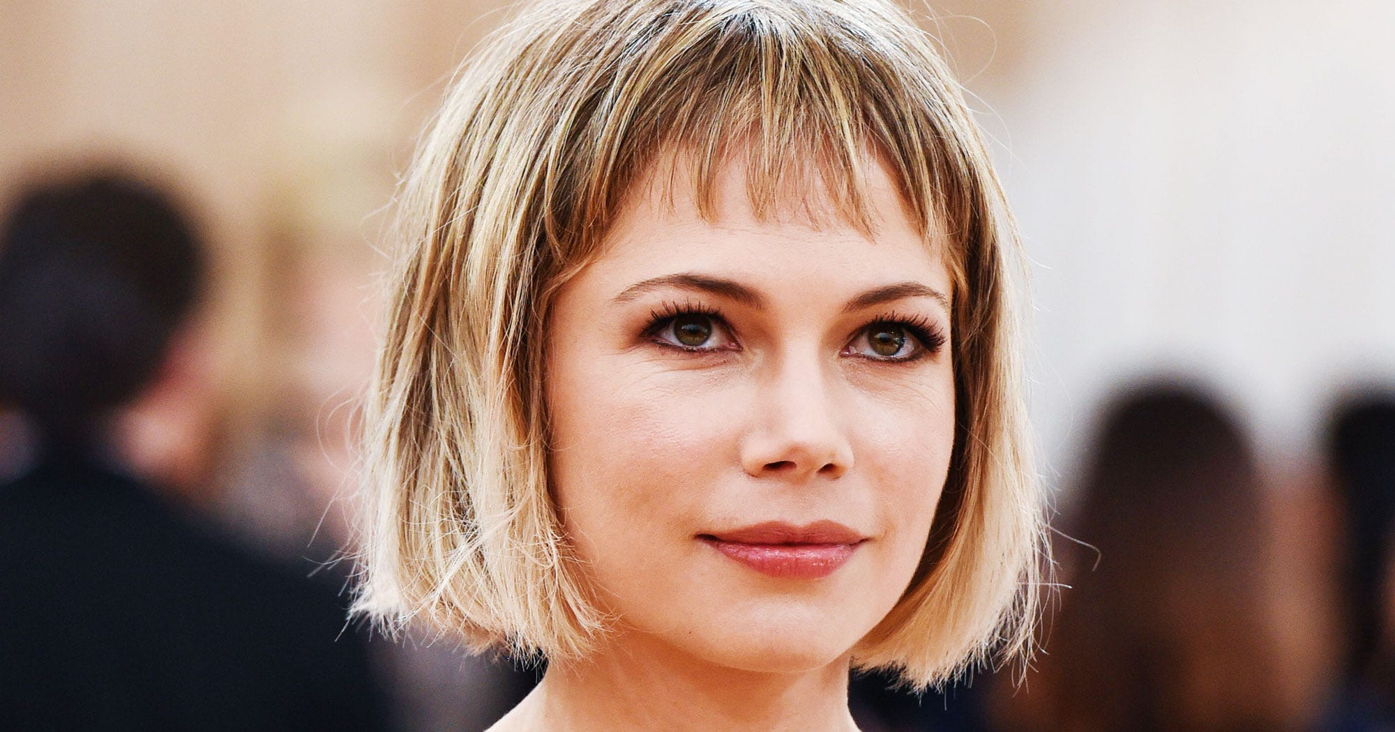 Michelle Williams Baby Bangs Haircut Trend