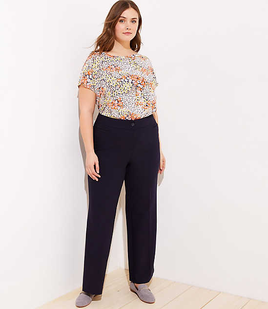 High Waist Wide Leg Trousers in Marisa Fit