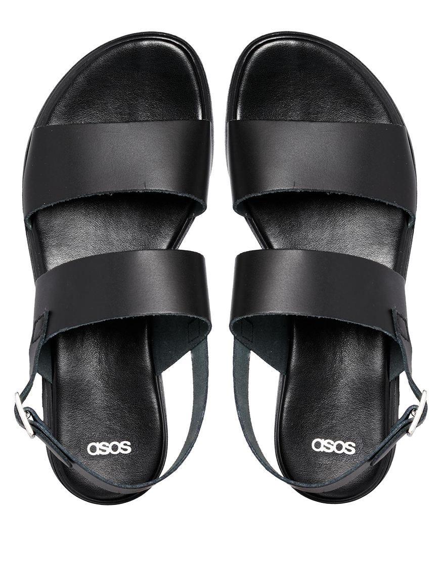 Last Leather Flat Sandals Word Famous CexrodB