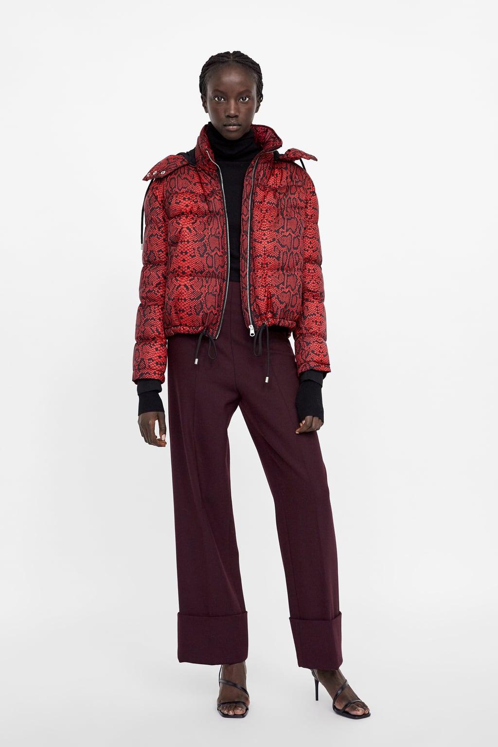 d135300df23a Zara + Animal Print Puffer Jacket