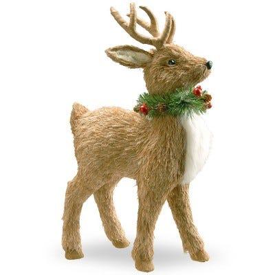 """19"""" Standing Reindeer Decorative Sculpture"""