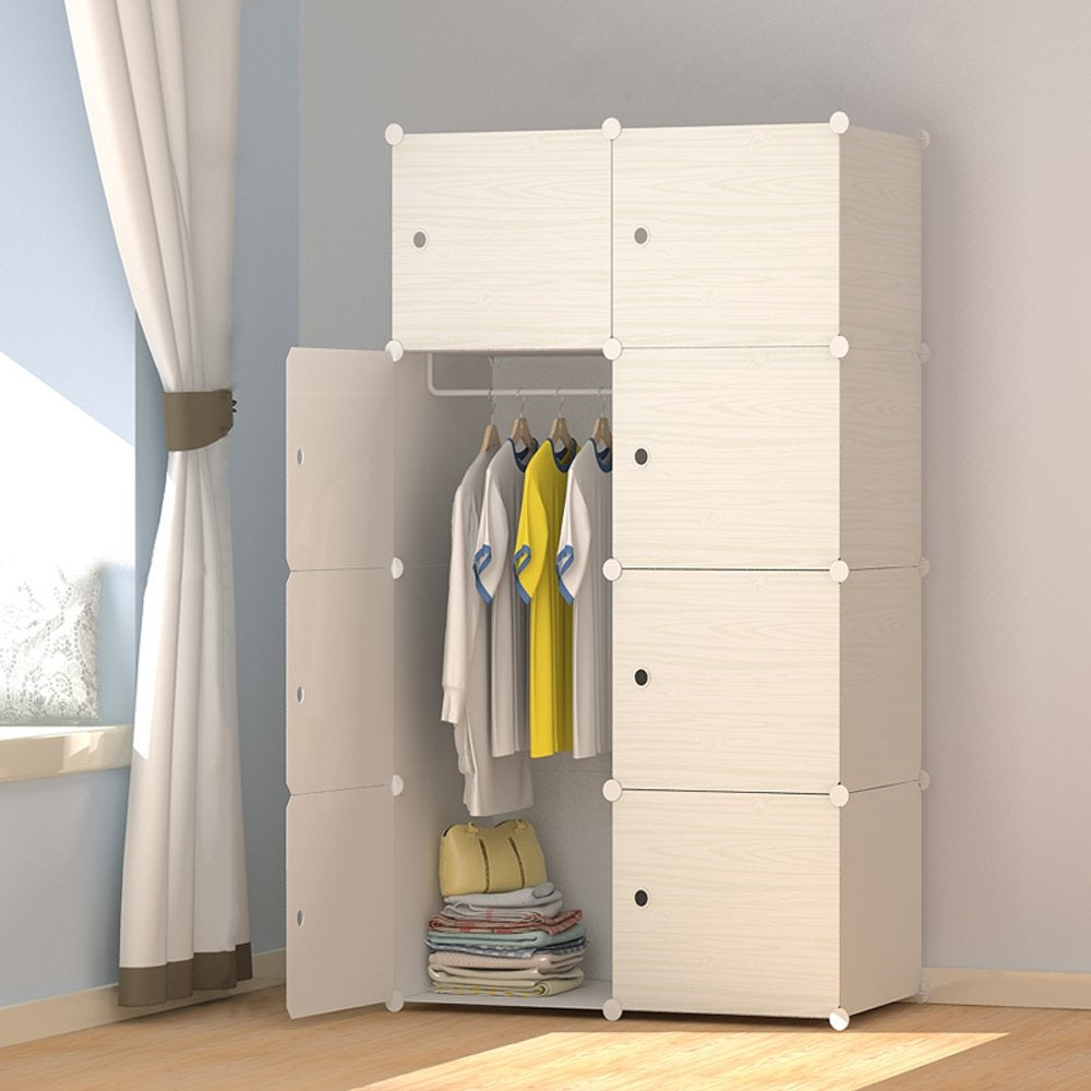 Joiscope + Wood Pattern Portable Wardrobe Closet for ...
