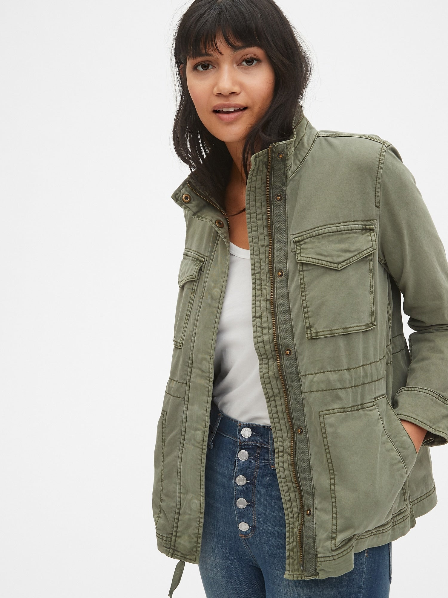 bed37d0a05a2a Gap + TENCEL™ Icon Utility Jacket