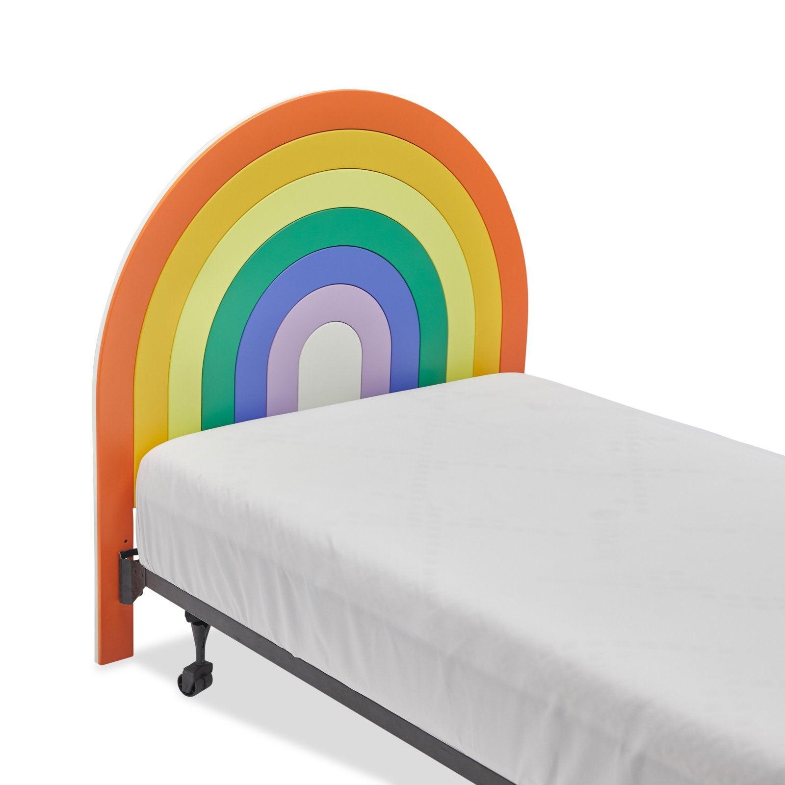 Drew Barrymore Flower Kids Rainbow Wood Headboard