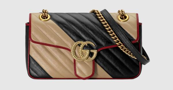 42908be39488 Gucci + GG Marmont small shoulder bag