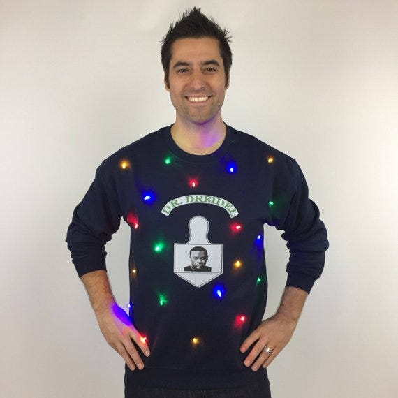 Silver Spoon Attire Light Up Ugly Hanukkah Sweater