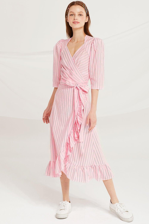 ac8b4992fcee Storets + Bevel V Neck Floral Dress