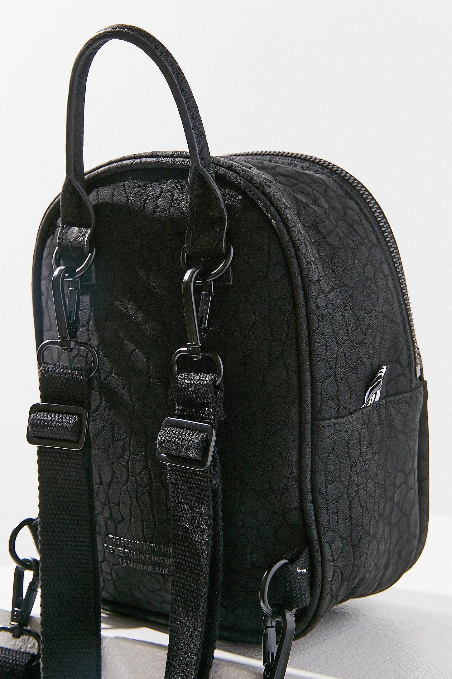 Adidas Originals Woman Faux Leather Backpack Black Size adidas vpwSGWqnr