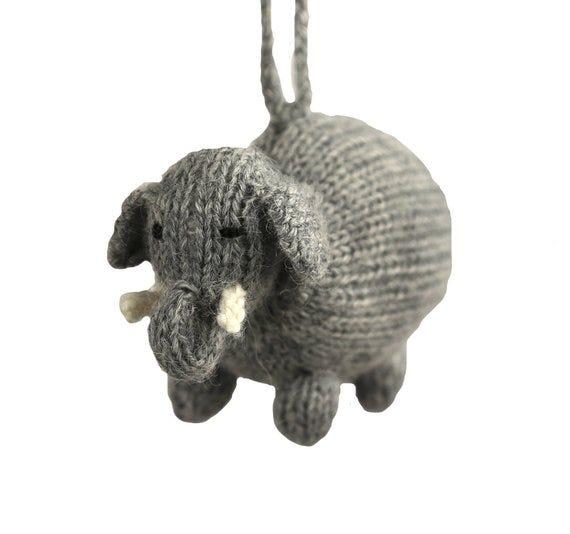 Alpaca Elephant Ornament