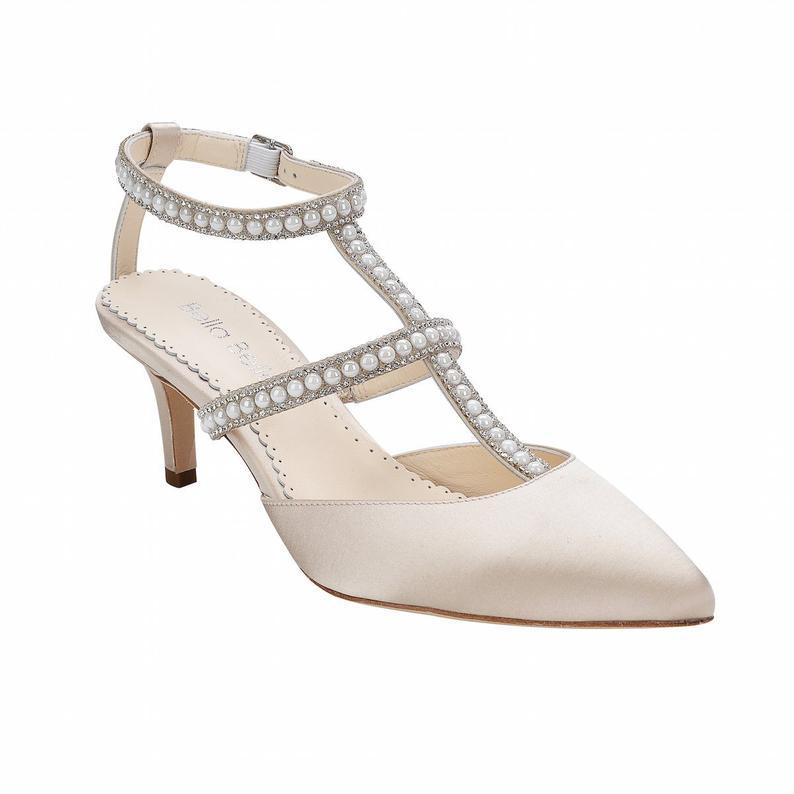 230a96ca8f42 Topshop + GEENA Block Heel Court Shoes