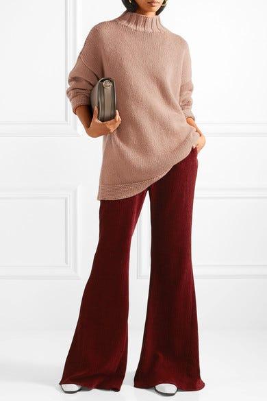 Pantalon Évasé Chenillé - Bourgogne Rosetta Getty ilvQoywTW9